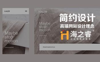 海之睿高端简约网站设计理念